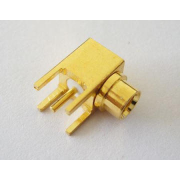 MCX jack connector right angle